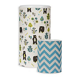 Glenna Jean North Country Hamper and Wastebasket Set