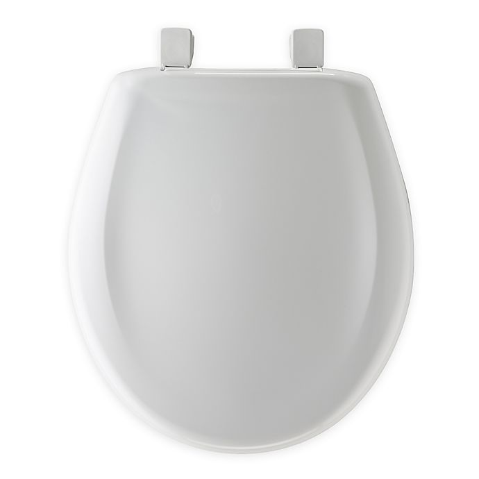 Alternate image 1 for Mayfair Round Plastic Whisper Close® Toilet Seat in White