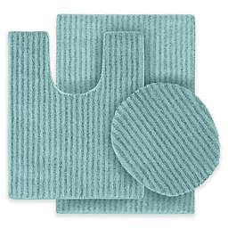 Sheridan 3-Piece Nylon Bath Rug Set in Sea Foam