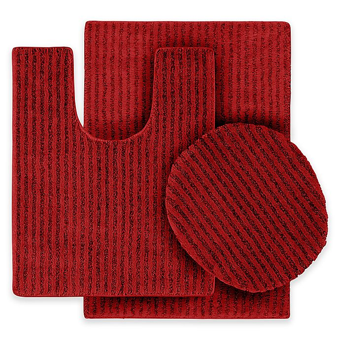 buy sheridan 3 piece nylon bath rug set in chili pepper red from bed bath beyond. Black Bedroom Furniture Sets. Home Design Ideas