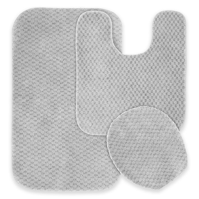 Alternate image 1 for Cabernet 3-Piece Bath Rug Set in Platinum Grey