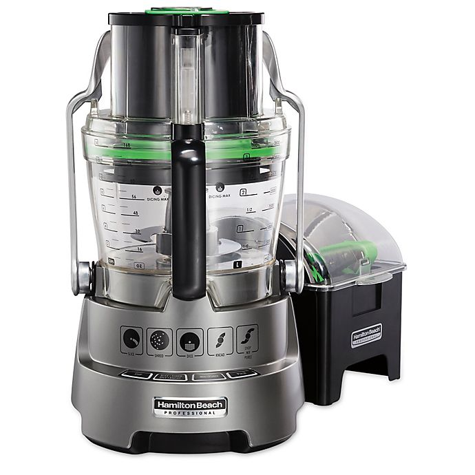 Alternate image 1 for Hamilton Beach® Professional 14-Cup Food Processor in Metallic Grey