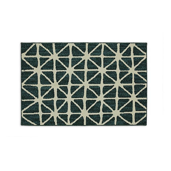 Alternate image 1 for Mohawk Home® Signature Bamboo View 20-Inch x 34-Inch Accent Rug in Sapphire/Cream
