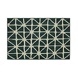 Mohawk Home® Signature Bamboo View 30-Inch x 46-Inch Accent Rug in Sapphire/Cream