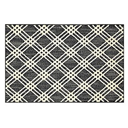 Mohawk Home®Signature Diamond Cross 20-Inch x 34-Inch Accent Rug in Denim/Cream
