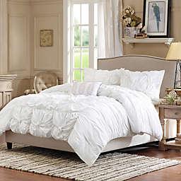 Madison Park Harlow Duvet Cover Set in White
