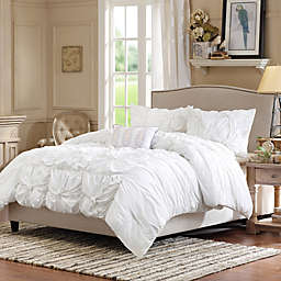 Madison Park Harlow Duvet Cover Set in White