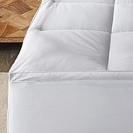 Canadian Living 400 Thread Count Cotton Twin Mattress Pad in White