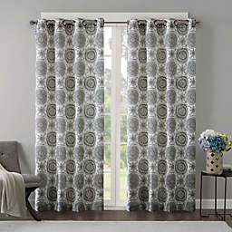 Regency Heights Opus 84-Inch Grommet Top Window Curtain Panel in Grey