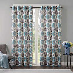Regency Heights Opus 84-Inch Grommet Top Window Curtain Panel in Aqua