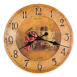 Bulova 18-Inch Laminated Dial with Color Fruit Pattern Wall Clock