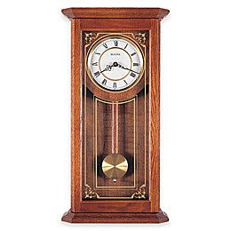 Bulova Cirrus Pendulum 26.25-Inch Wall Clock in Oak