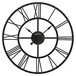 Bulova Carmen Wall Clock in Rustic Iron