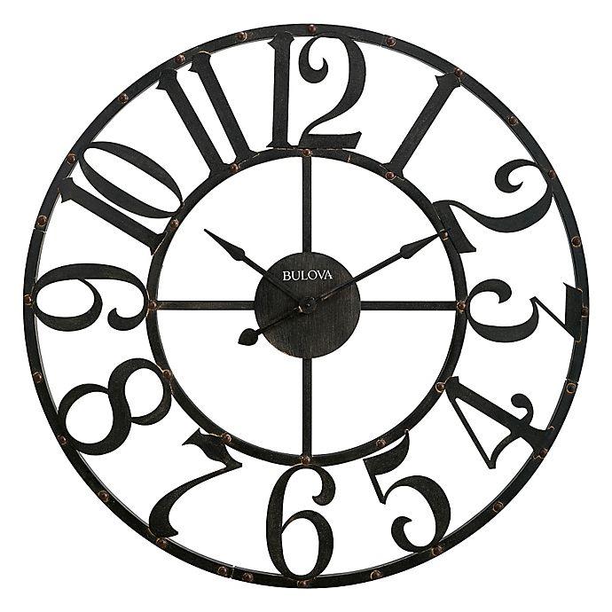 Alternate image 1 for Bulova Gabriel Wall Clock in Rustic Brown