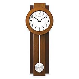 Bulova Avant Wall Clock in Walnut/Mahogany