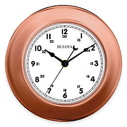 Bulova 3-Piece Info Station Wall Clock in Copper