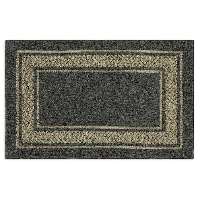 Alternate image 1 for Walker Border 2-Foot 6-Inch x 3-Foot 10-Inch Area Rug in Charcoal
