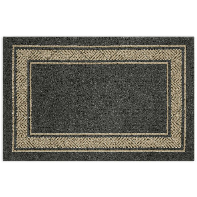 Alternate image 1 for Walker Border 3-Foot 4-Inch x 5-Foot Area Rug in Charcoal