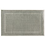 Bacova Woven Natural Framed Ridges 20-Inch x 33-Inch Accent Rug in Grey