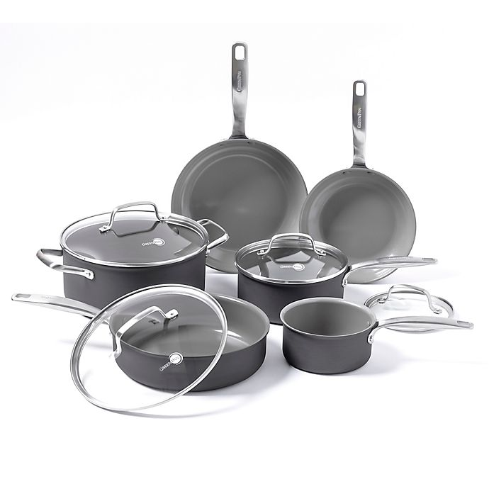 Alternate image 1 for GreenPan™ Chatham Ceramic Nonstick 10-Piece Cookware Set