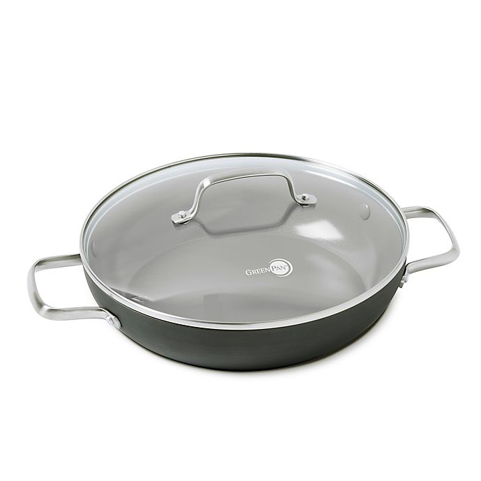 Alternate image 1 for GreenPan™ Chatham Nonstick 11-Inch Ceramic Covered Everyday Frying Pan with 2 Helpers