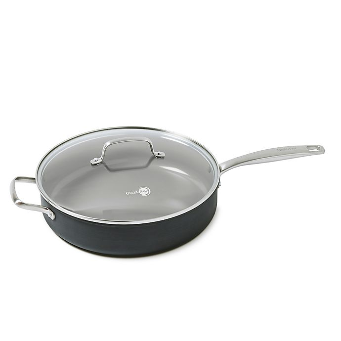 Alternate image 1 for GreenPan™ Chatham 5 qt. Ceramic Nonstick Covered Sauté Pan with Handle Helper