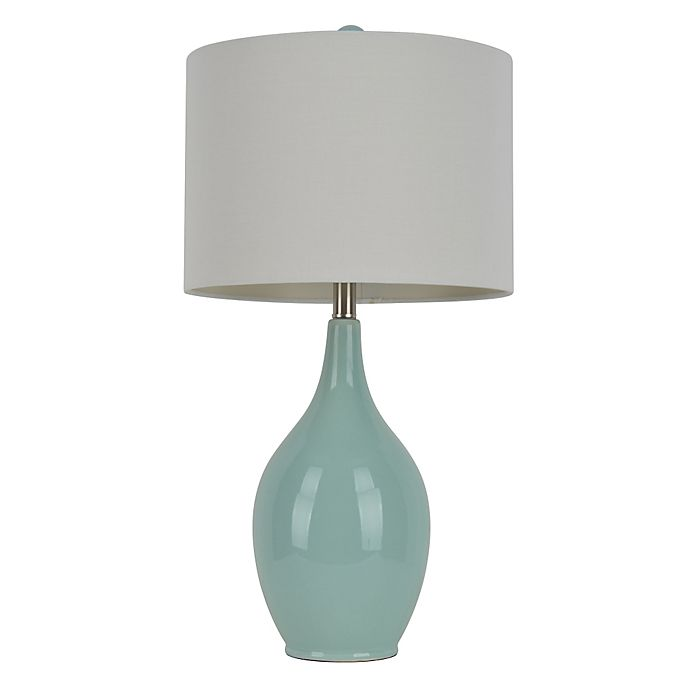 47b9a1d32987 Ceramic Table Lamp in Spa Blue | Bed Bath & Beyond
