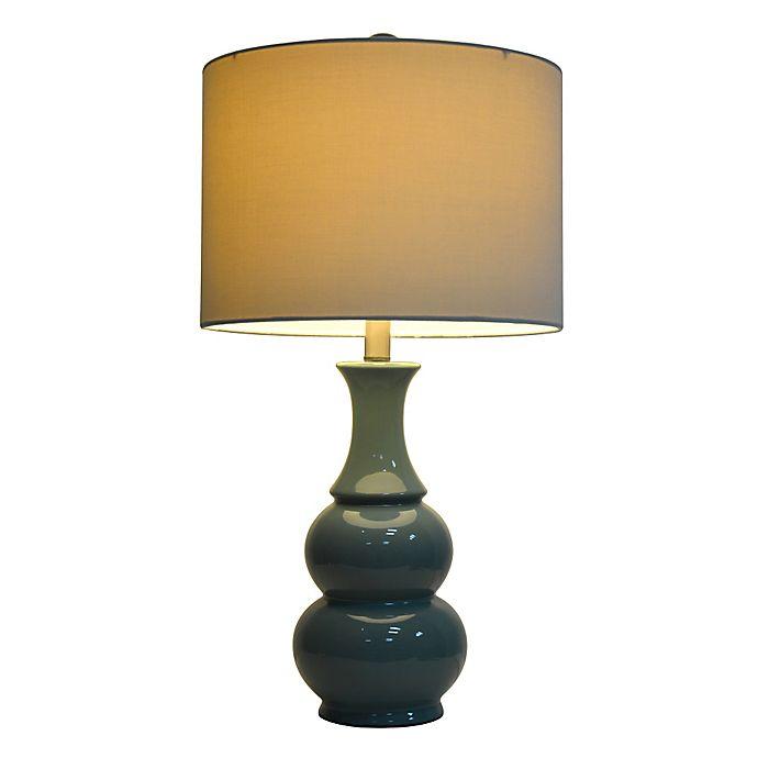 Alternate image 1 for Ceramic Table Lamp in Green