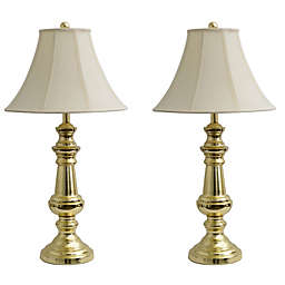Décor Therapy Touch Control Table Lamps in Polished Brass (Set of 2)