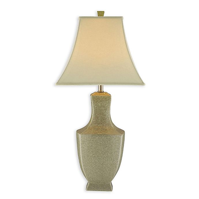 Alternate image 1 for Stein World Honora Crackle Ceramic Table Lamp in Ivory with Linen Shade