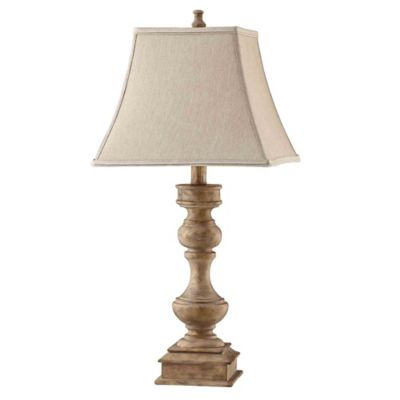 Stein World Liam Table Lamp In Grey With Square Bell Shade Bed Bath Beyond