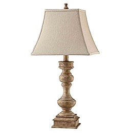Stein World Liam Table Lamp in Grey with Square Bell Shade