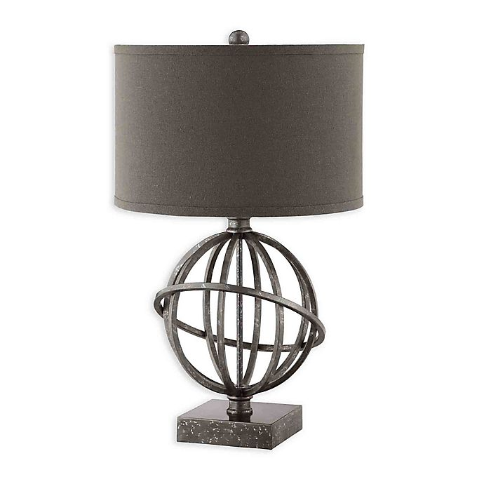 Alternate image 1 for Stein World Lichfield Table Lamp in Silver with Hardback Shade