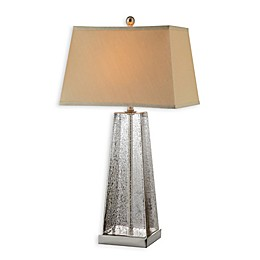 Stein World Armley Table Lamp in Mercury with Empire Rectangle Shade