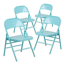 Flash Furniture Hercules Metal 4-Pack Folding Chairs