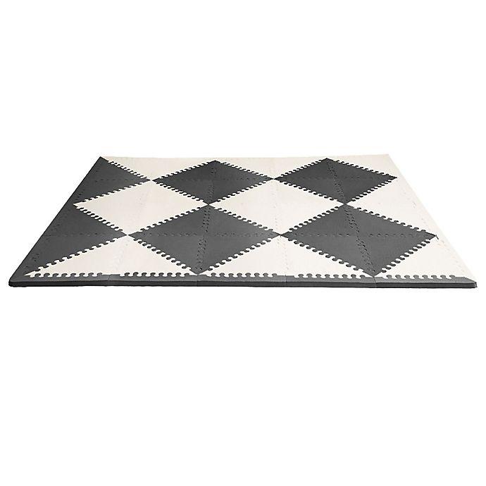 Alternate image 1 for SKIP*HOP® Playspot Geo Foam Tiles in Black/Cream