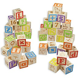 Maxim© Preschool Collection 40-Piece ABC Wooden Block Set