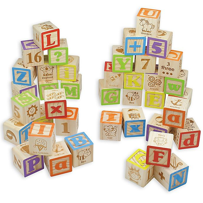 Alternate image 1 for Maxim© Preschool Collection 40-Piece ABC Wooden Block Set