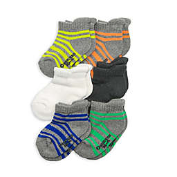 OshKosh B'gosh® 6-Pack Striped Ankle Socks in Grey