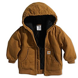 Carhartt® Flannel Quilted-Lined Active Jacket in Brown