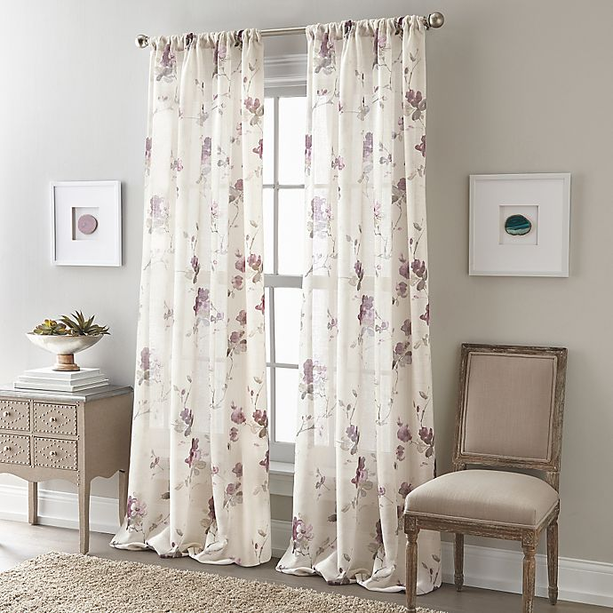 Buy Zen Floral 63-Inch Rod Pocket Semi-Sheer Window