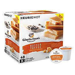 Gloria Jean's® Butter Toffee Flavored Coffee Keurig® K-Cup® Pods 48-Count