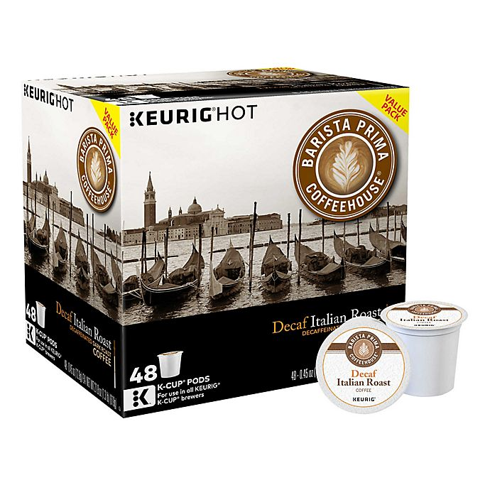 Alternate image 1 for Barista Prima Coffeehouse® Italian Roast Decaf Coffee Keurig® K-Cup® Pods 48-Count Pack