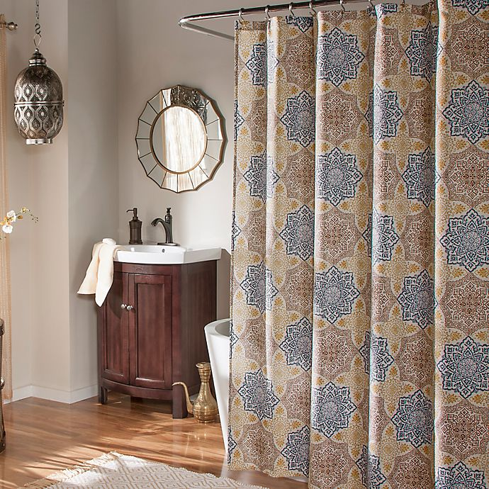 Mstyle Morocco Shower Curtain In Indigo
