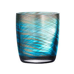 Artland® Misty 10 oz. Double Old Fashioned Glasses in Aqua (Set of 4)