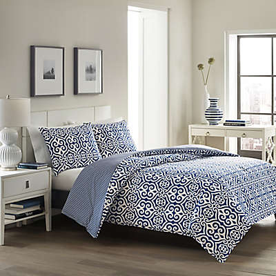 City Loft™ Blair Comforter Set in Navy