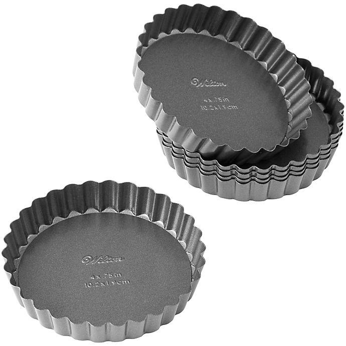 Alternate image 1 for Wilton® Advance Select Premium Nonstick™ 4-Inch Tart/Quiche Pans (Set of 6)