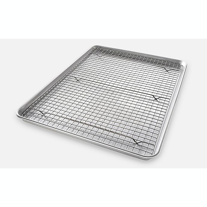 Alternate image 1 for USA Pan Baking 2-Piece  Pan/Rack Set