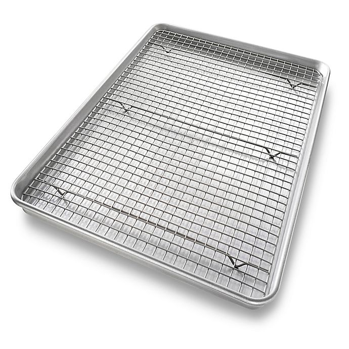 Alternate image 1 for USA Pan Baking Extra Large 2-Piece Pan and Rack Set