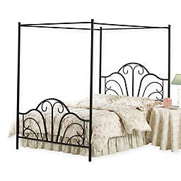 Hillsdale Dover Canopy Bed in Black